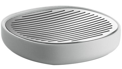 Decoration - For bathroom - Birillo Soap holder by Alessi - White & Steel - PMMA, Stainless steel