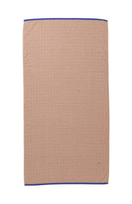 Drap de bain Sento / Organic - 140 x 70 cm - Ferm Living rose,bleu foncé en tissu