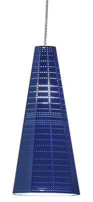 Foto Sospensione Null Vector Alfa - LED / Ø 13 x H 30 cm di Artemide - Blu - Metallo