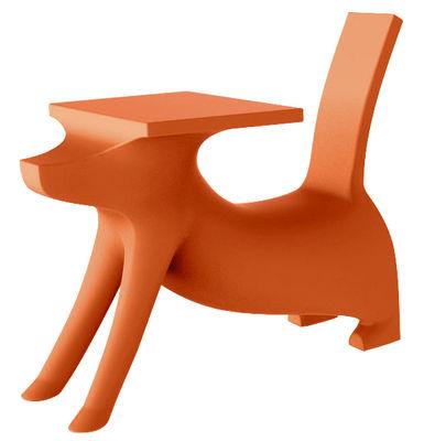 Bureau enfant Le Chien Savant Assise intégrée Magis Collection Me Too orange en matière plastique