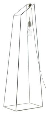 Luminaire - Lampadaires - Lampadaire Pyramide de Lumière / H 120 cm - Ampoule non fournie - Serax - H 120 cm - Cuir, Métal, Textile
