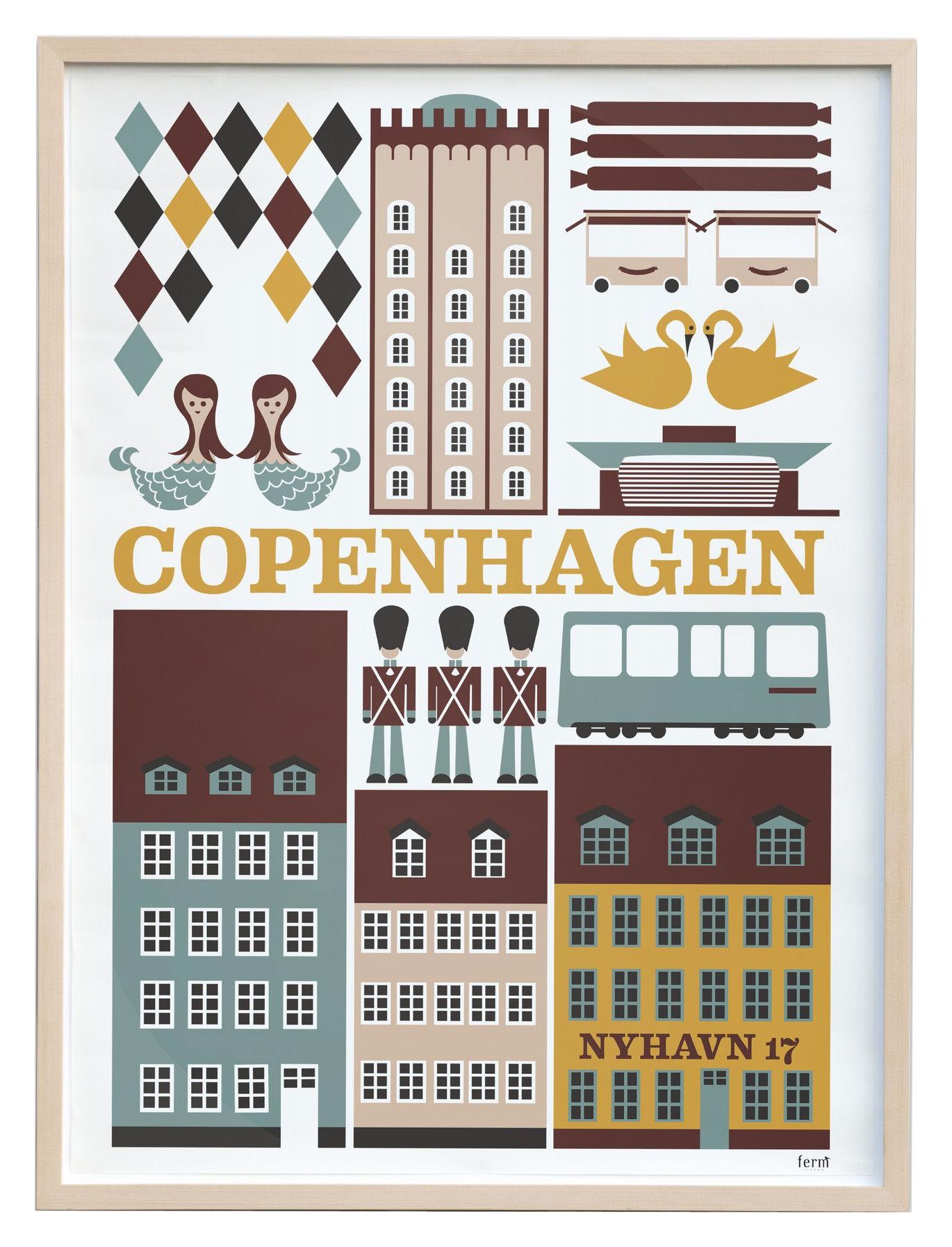 copenhagen poster 50 x 70 cm 50 x 70 cm multicoloured by ferm living. Black Bedroom Furniture Sets. Home Design Ideas