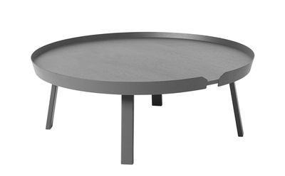Table basse Around XL / Ø 95 x H 36 cm - Muuto gris foncé en bois