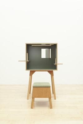 bureau koloro l 73 cm vert fonc bois clair ichiro. Black Bedroom Furniture Sets. Home Design Ideas