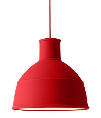 Unfold Pendelleuchte / Silikon - Muuto - Rot