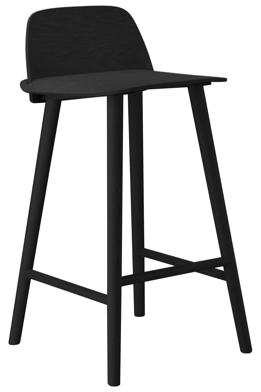 chaise de bar nerd h 65 cm bois noir muuto. Black Bedroom Furniture Sets. Home Design Ideas