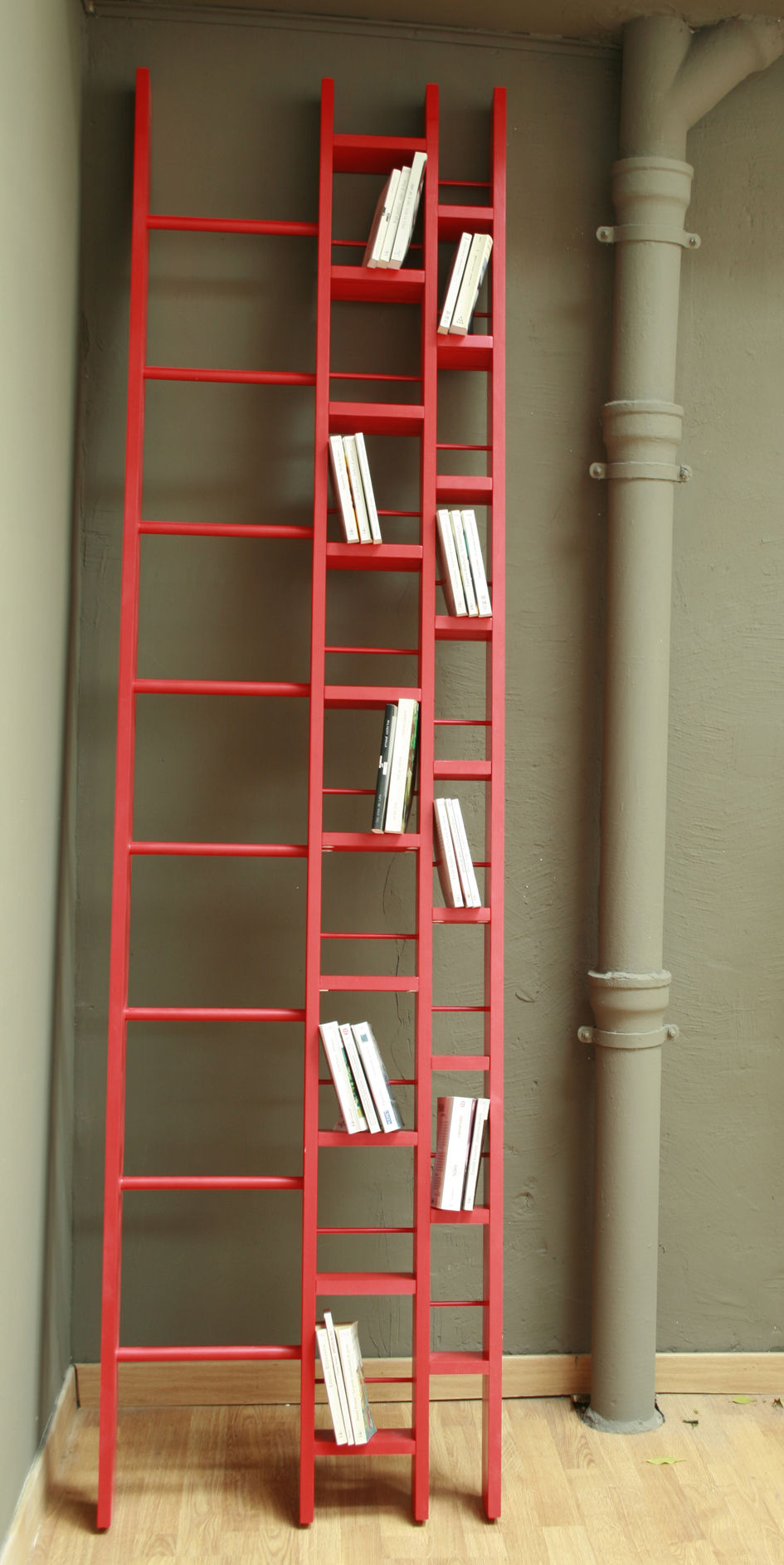 h bookcase width 64 cm red by la corbeille ForBibliotheque 20 Cm Profondeur