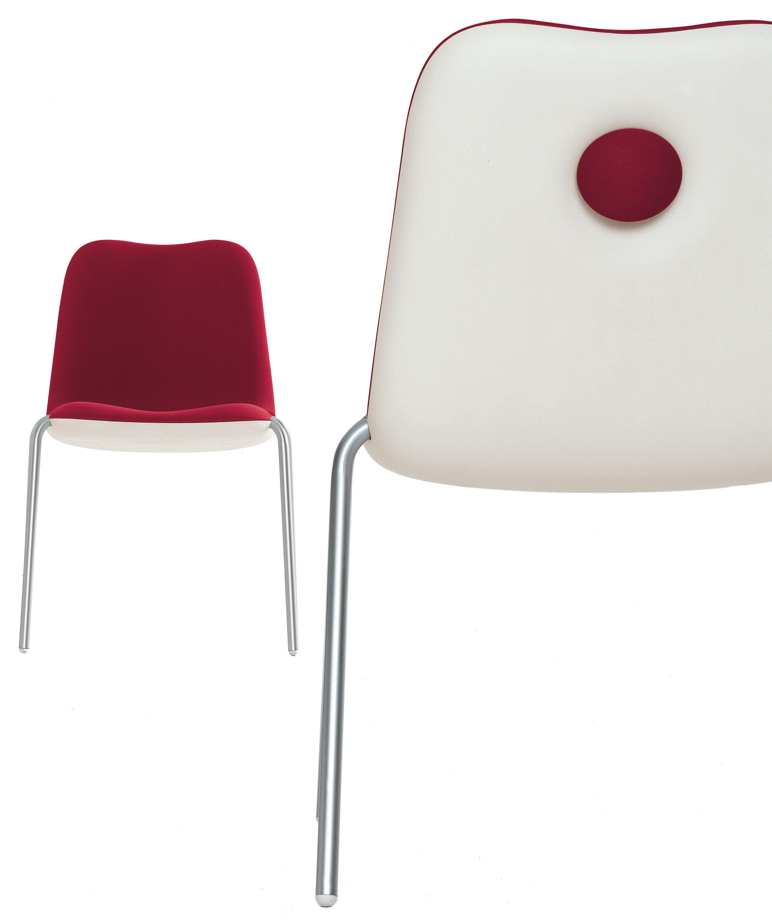 chaise rembourr e boum rouge kristalia. Black Bedroom Furniture Sets. Home Design Ideas