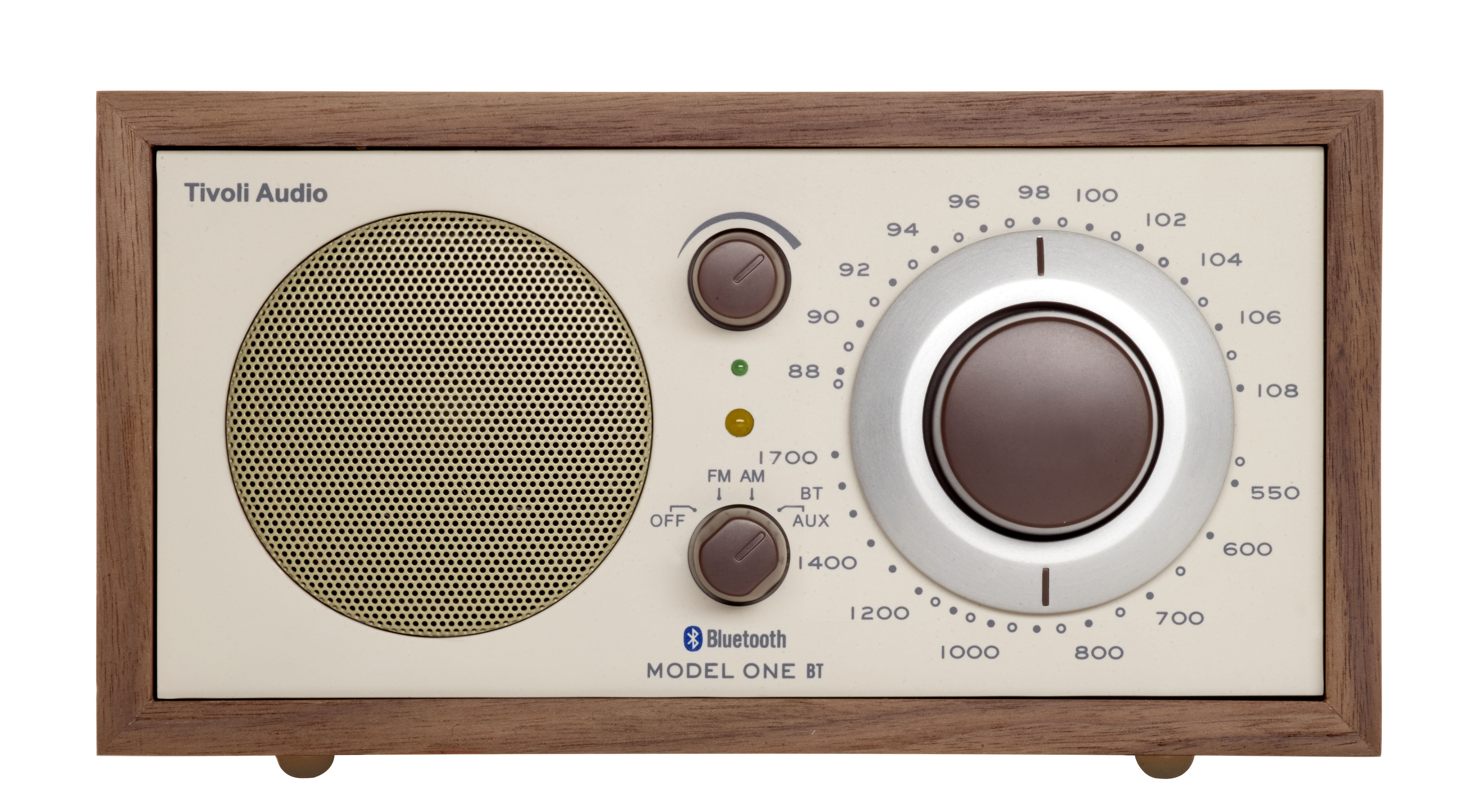 radio model one bt enceinte bluetooth noyer beige. Black Bedroom Furniture Sets. Home Design Ideas