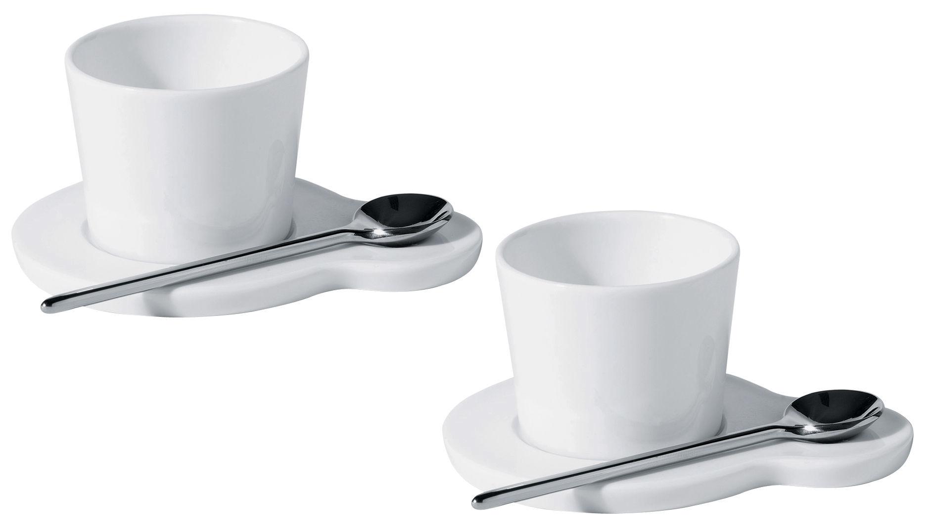 Scopri tazzina da caff hupla set 2 tazze 2 piattini for Tazzine caffe moderne