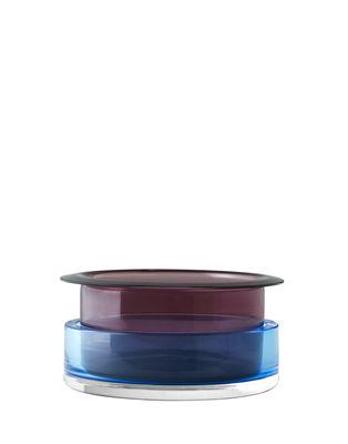 Déco - Vases - Vase Tricolore SH3 / Verre - Set 2 vases empilables - &tradition - n°3 / Bleu & Rouge - Verre soufflé-moulé bouche