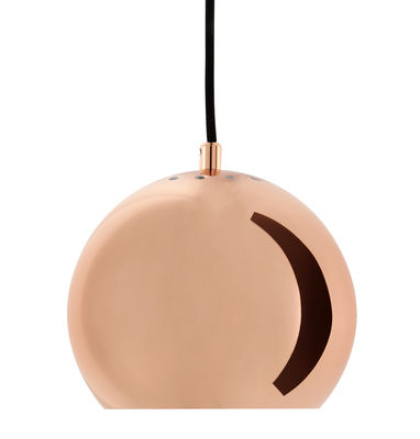 Suspension Ball Small Ø 18 cm Réédition 1968 Frandsen cuivre en métal