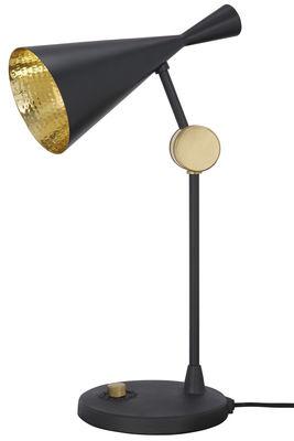 Luminaire - Lampes de table - Lampe de table Beat / H 53 cm - Tom Dixon - Noir - Fonte, Laiton