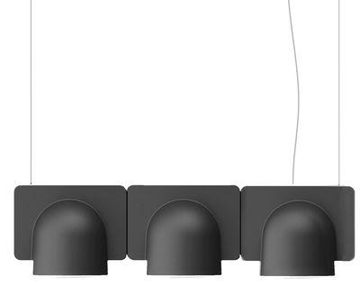 Luminaire - Suspensions - Suspension Igloo 3 LED / L 66 cm - Eclairage direct - Fontana Arte - Gris foncé - ABS laqué