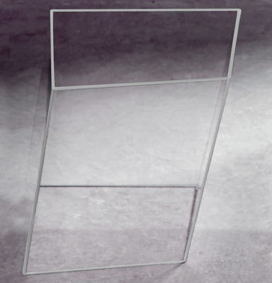 Table basse Wireframe 40 x 38 cm - Glas Italia blanc,transparent en verre