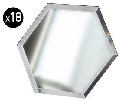 Miroir autocollant mirrorize hexagone 20x20 cm set de for Autocollant miroir