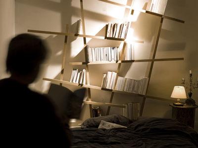 biblioth que mikado small l 185 x h 100 cm ch ne. Black Bedroom Furniture Sets. Home Design Ideas