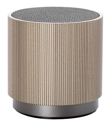 Weihnnachtsgeschenke - Für ihn / Der Design-Liebhaber - Enceinte Bluetooth Fine Speaker / Sans fil - Rechargeable - Lexon - Beige doré - ABS, Aluminium