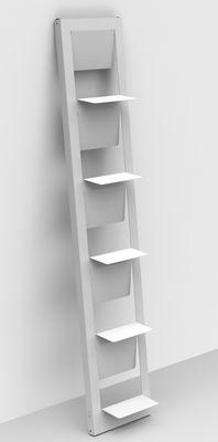 Bibliothèque Pampero / à poser - H 185 cm - Matière Grise blanc en métal