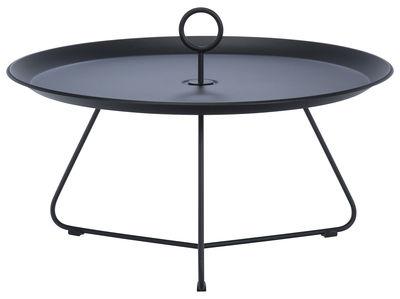 Mobilier - Tables basses - Table basse Eyelet Large / Ø 70 x H 35 cm - Houe - Noir - Métal laqué époxy
