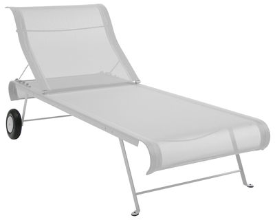 Outdoor - Sun Loungers & Hammocks - Dune Sun lounger by Fermob - White - Lacquered steel