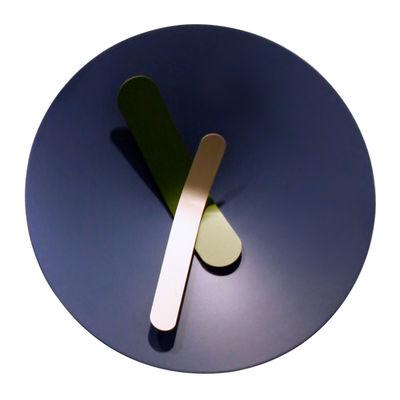 Foto Orologio a parete Mozia Medium / Ø 40 cm - Diamantini & Domeniconi - Blu grigio - Metallo Orologio murale
