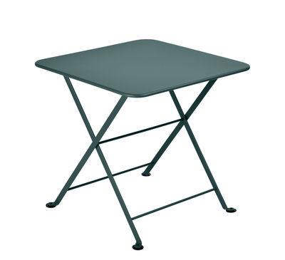 Image of Tavolino Tom Pouce - / 50 x 50 cm di Fermob - Grigio temporale - Metallo