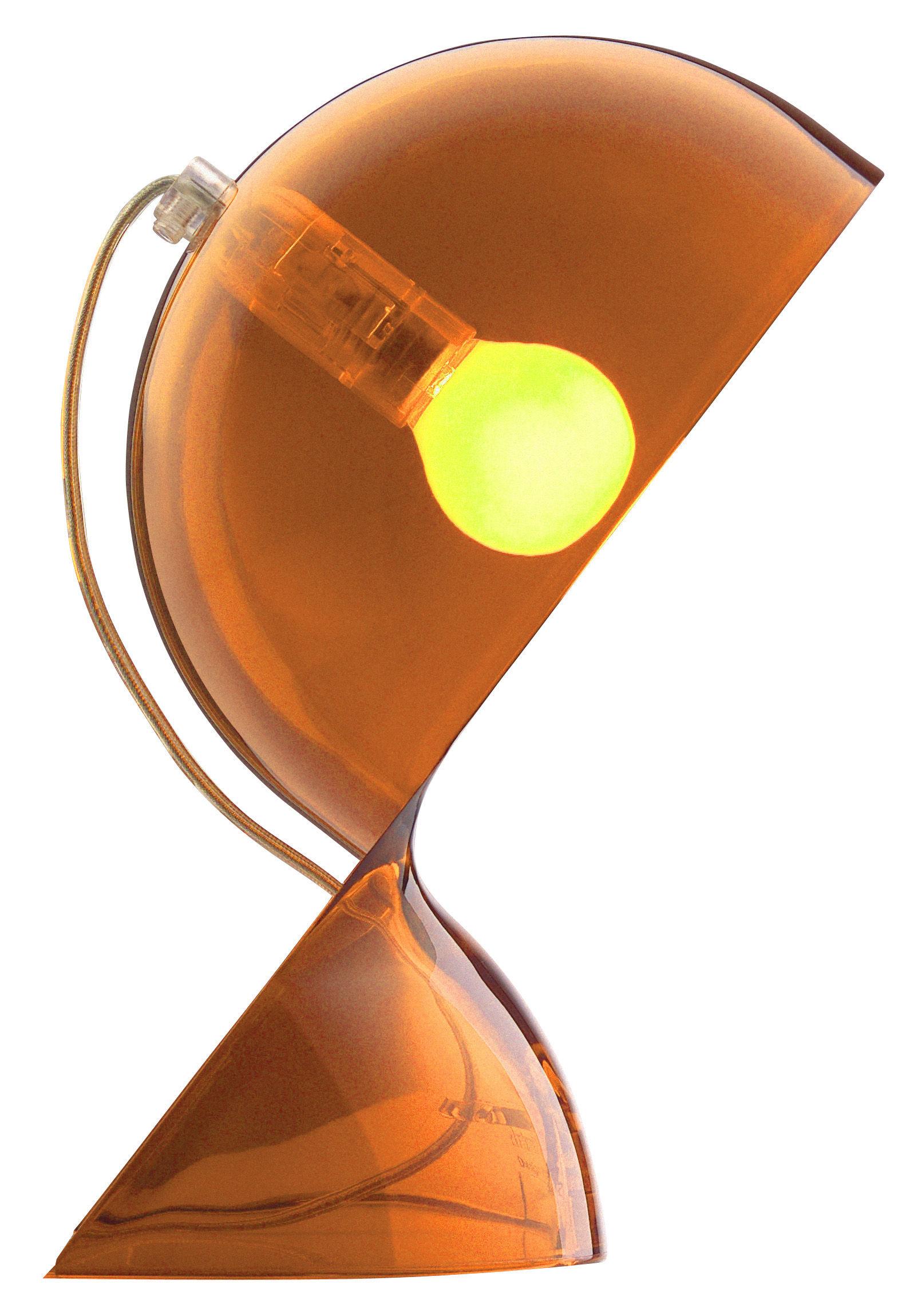 Scopri lampada da tavolo dal arancione trasparente di artemide made in design italia - Lampada da tavolo vico magistretti ...