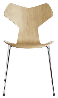 Chaise empilable Grand Prix / Bois naturel - Fritz Hansen chêne naturel en bois
