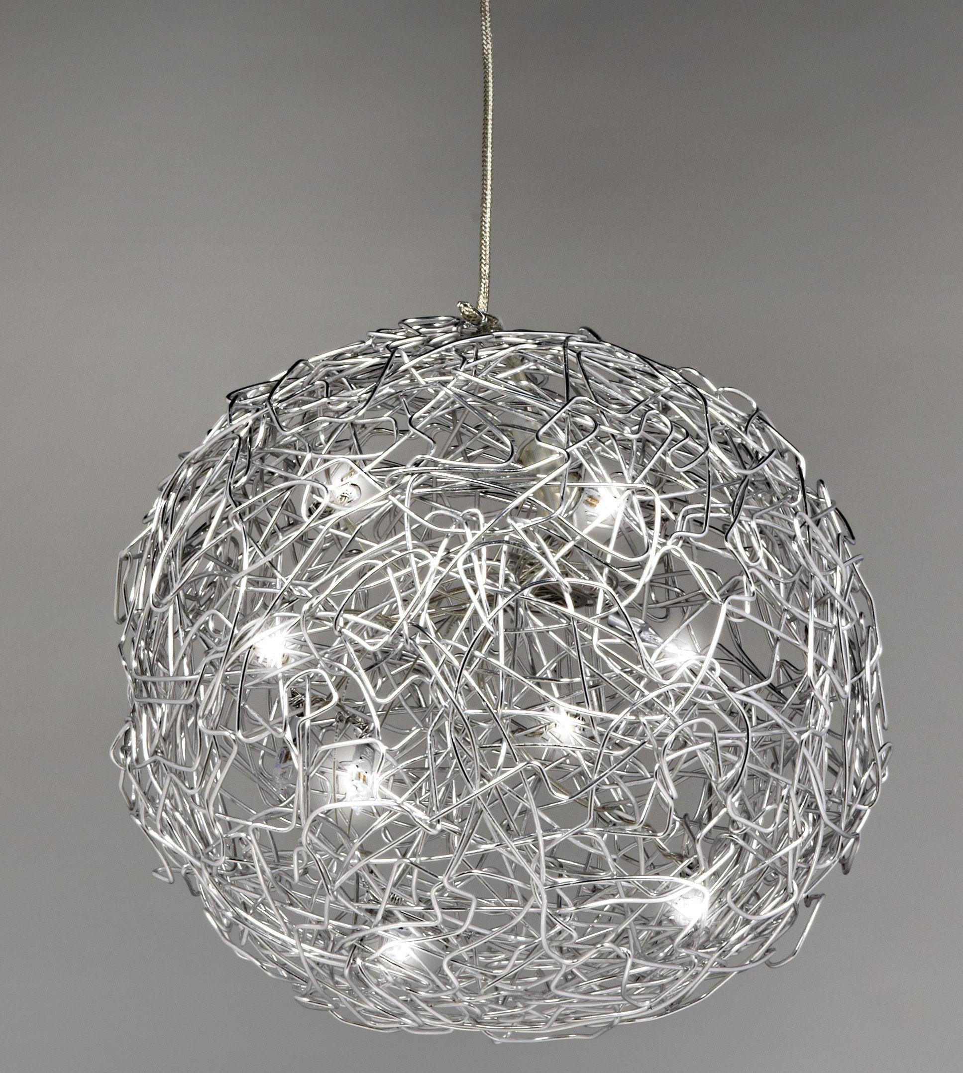 fil de fer pendant 30 cm aluminium 30 cm by. Black Bedroom Furniture Sets. Home Design Ideas