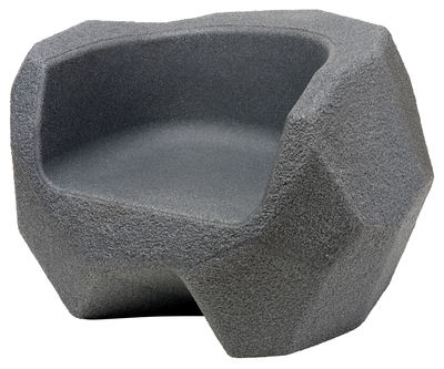 Furniture - Kids Furniture - Piedras Children armchair by Magis Collection Me Too - Charcoal grey - Polythene