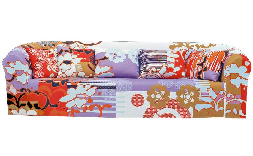 canap droit print 2 places l 240 cm l 240 cm tons parme moroso. Black Bedroom Furniture Sets. Home Design Ideas