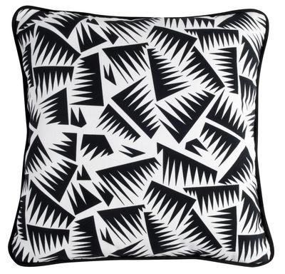 Coussin JER1 / Réédition de Jacques Emile Ruhlmann - La Chance blanc,noir en tissu