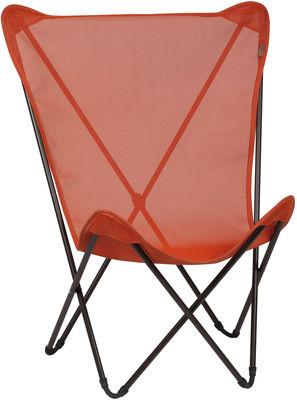 fauteuil maxi pop up pliable corail structure noire. Black Bedroom Furniture Sets. Home Design Ideas