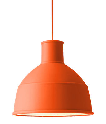 suspension unfold en silicone orange muuto. Black Bedroom Furniture Sets. Home Design Ideas