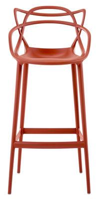 Chaise de bar Masters / H 75 cm - Polypropylène - Kartell orange rouille en matière plastique