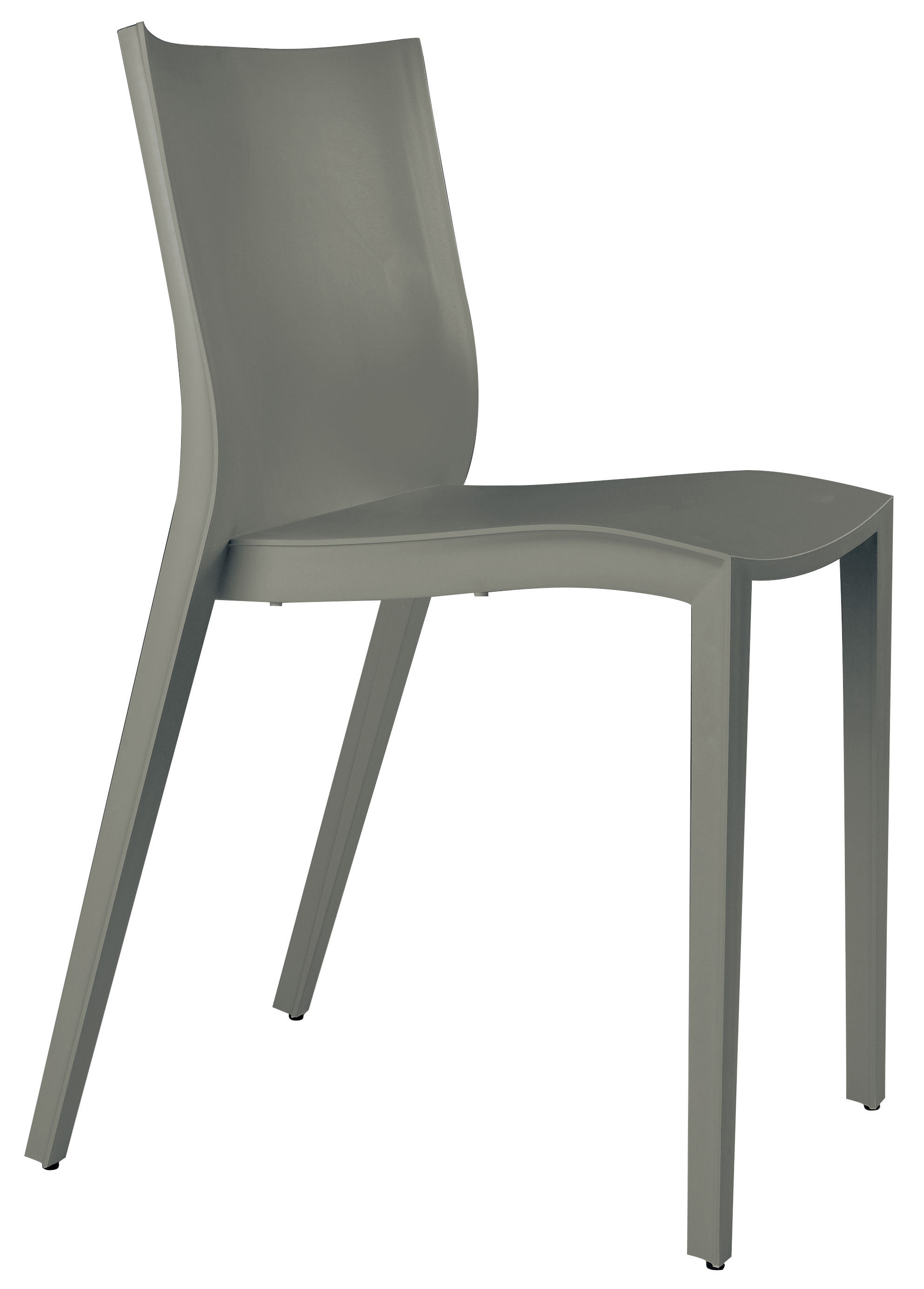 Chaise new slick slick gris souris xo for Chaise xo starck