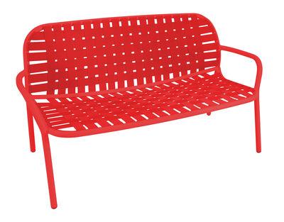 Divano angolare destro Yard / 2 posti - L 139 cm - Emu - Rosso - Tessuto