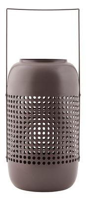 Lanterne Panel / Métal - H 28 cm - House Doctor marron clair en métal