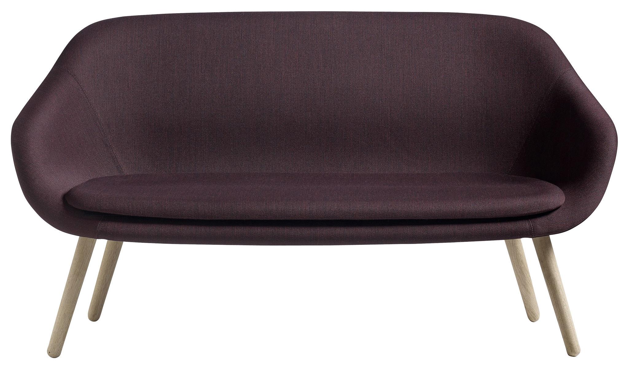 canap droit about a lounge sofa for comwel l 150 cm 2 places bordeaux bois naturel hay. Black Bedroom Furniture Sets. Home Design Ideas