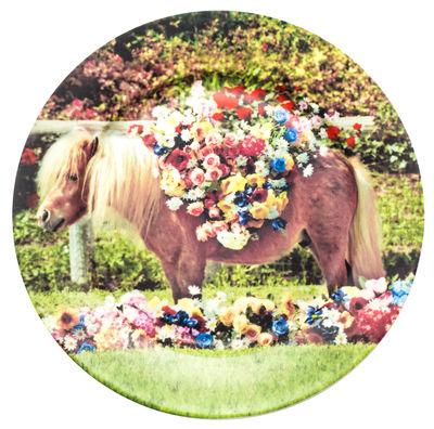 Assiette Toiletpaper - Poney / Porcelaine - Seletti multicolore en céramique