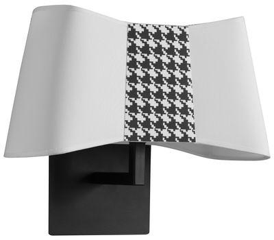 Petit Couture Wandleuchte / L 32 cm - Designheure - Weiß,Schwarz