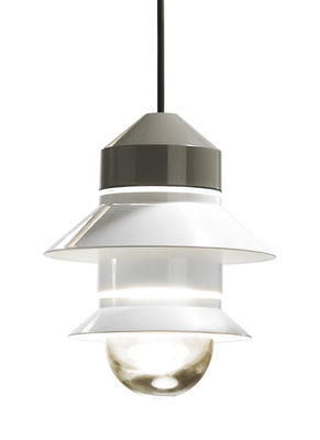 Lampe Santorini / Baladeuse à suspendre - Marset blanc en verre