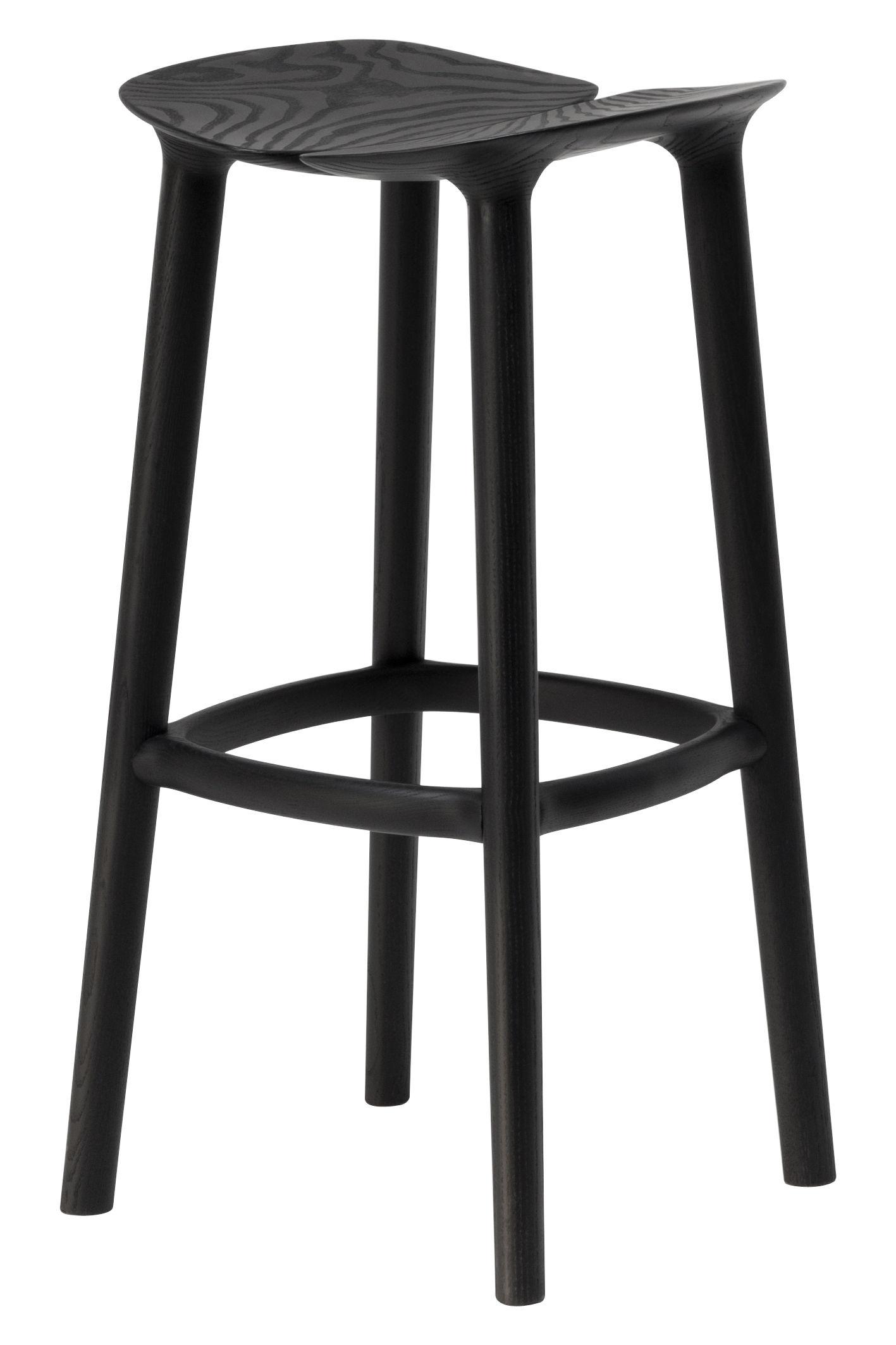 Osso Bar stool H 75 cm Wood Black by Mattiazzi