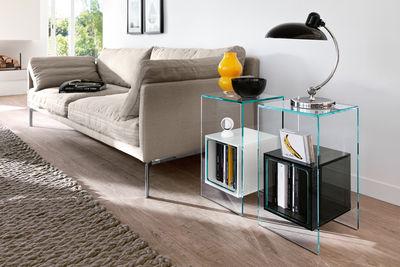 Magique tavolino d 39 appoggio h 56 cm trasparente for Tavolini bianchi