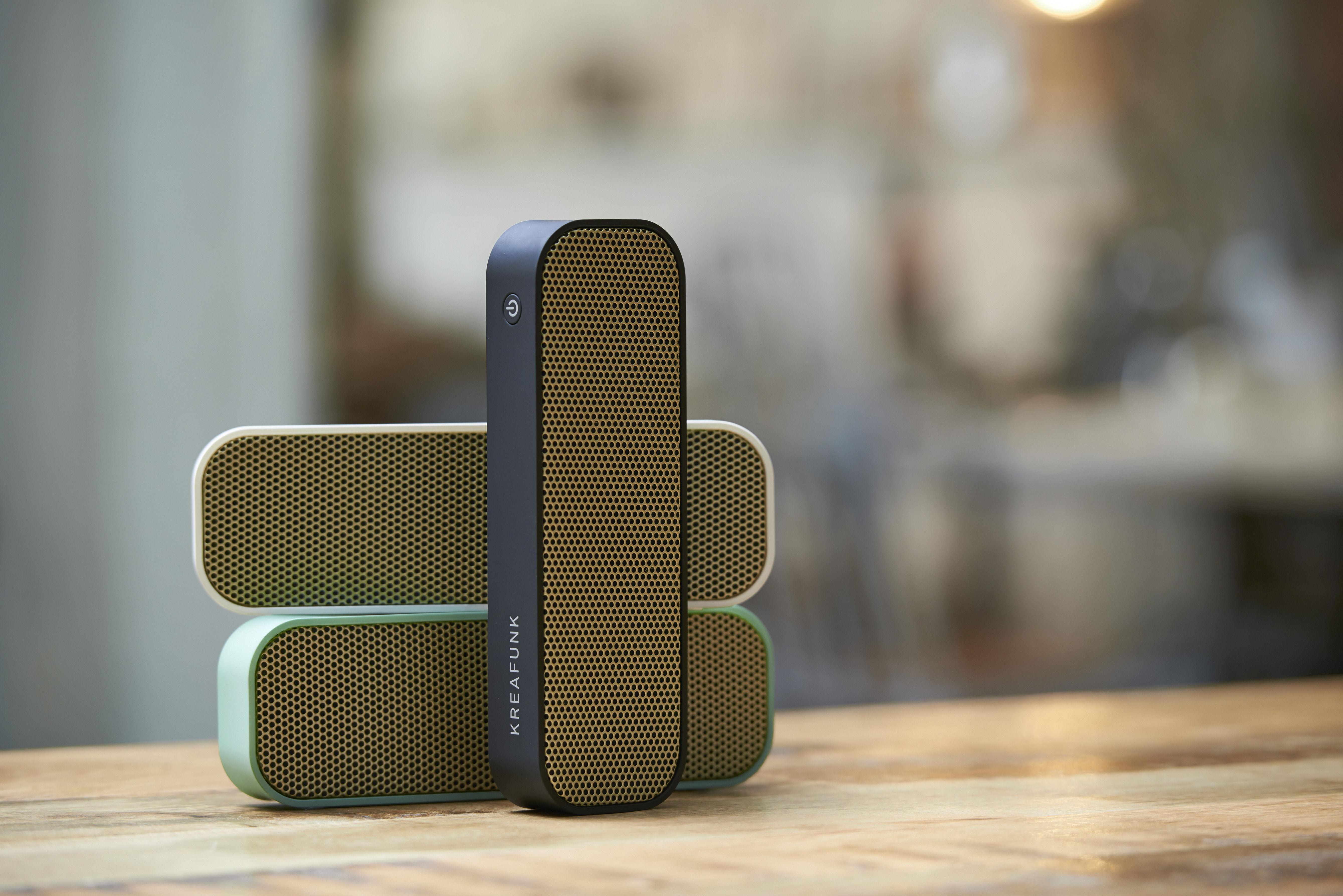 enceinte bluetooth agroove portable sans fil noir or kreafunk. Black Bedroom Furniture Sets. Home Design Ideas