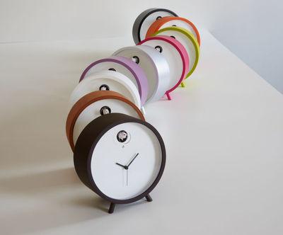 Horloge à poser Plex à coucou / Lumineuse Cadre aluminium / cadran ...