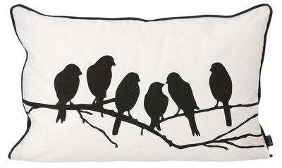 coussin lovebirds 60 cm x 40 cm noir blanc ferm living. Black Bedroom Furniture Sets. Home Design Ideas
