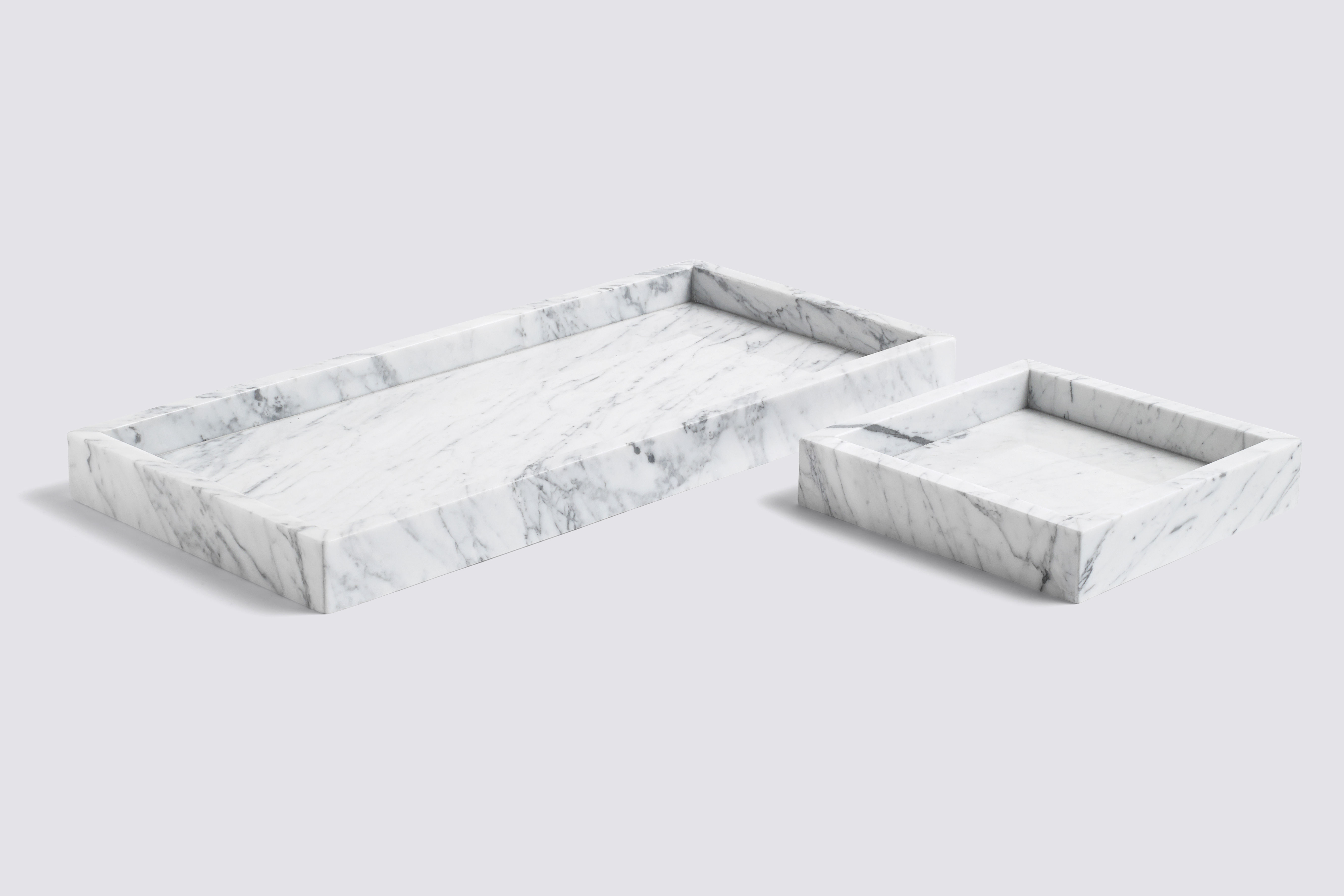 Marble Tray Large Tray 54 X 25 Cm White By Hay
