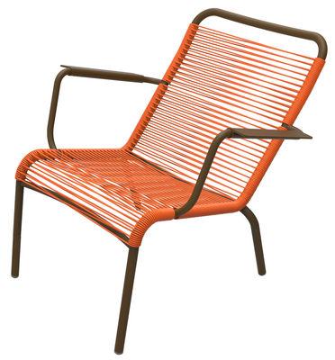 Saint Tropez Lounge Sessel - Fermob - Karotte,Rost